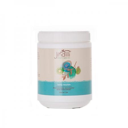 Buy Jindilli Body Nourish now. Spa professional. Natural body moisturizer, macadamia oil.